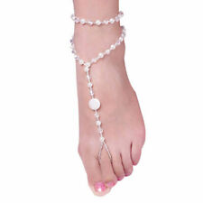 Barefoot Jewelry Pearl Ankle Chain Bracelet Sandal Bridal Beach Multi-Layer 1pc