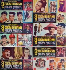 Le GENDARME A NEW YORK Italian fotobusta movie posters x6 LOUIS DE FUNES 1965
