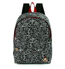PAUL FRANK - JULIUS MONKEY GRAFFITI SCHOOL BACKPACK - BLACK