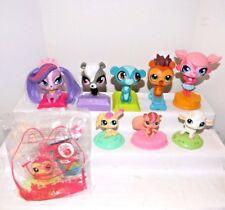 LITTLEST PET SHOP~McDonald Toys~(Total 9 Pcs)~Four 2011 Bobble Heads+Five 2012