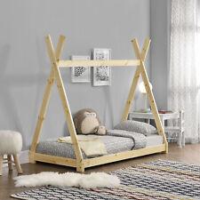 Cuna 70x140cm tipi indio cama madera natural Hausbett Niños casa