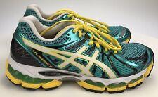 Women's 7.5 39 - Asics Gel Cumulus 15 Athletic Running Shoes Green Yellow T3B5N