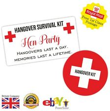 Great Value Hangover Kit Sticker Pack Hen Party Hangover Kit Labels Stickers