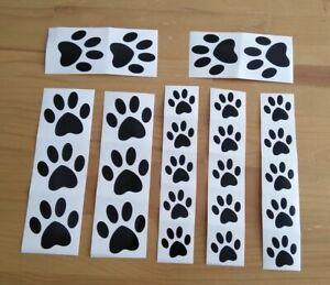 25 x PAW PRINT CAT DOG VINYL DECAL STICKERS CAR/VAN/WINDOW GROOMERS 6 COLOURS