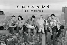 Friends TV Cast on New York Skyscraper Poster 24x36
