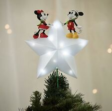 Disney Mickey Minnie Mouse Tree Topper Xmas Ornament Decoration Light Up Star