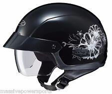 HJC IS-Cruiser Blush Motorcycle Half Helmet Black M MD Medium Sunshield DOT