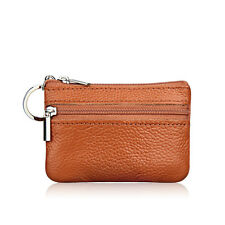 Womens Leather Small Mini Wallet Card Holder Zip Coin Purse Clutch Bag Handbag