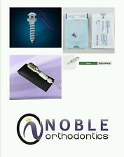 Orthodontic Micro Implant Kit:(10) Mini Screws, Driver, Shaft, & Pilot Drill FDA