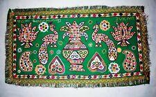 Vintage Handmade Décoratif Zari Brodé Rabari Kutch Rare Tenture Murale Arts