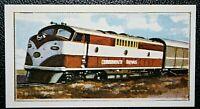 COMMONWEALTH RAILWAY  Trans-Australian  Express  Diesel Locomotive  Colour Card