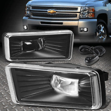 [HI-POWER LED] FOR 2007-2014 CHEVY SILVERADO 2500HD CLEAR FOG LIGHT/LAMPS+SWITCH