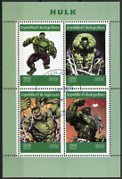 Madagascar 2019 CTO Incredible Hulk 4v M/S Marvel Comics Superheroes Stamps