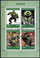 Madagascar 2019 CTO Incredible Hulk 4v M/S Marvel Comics Superheroes Stamps
