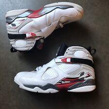Men's 2013 Nike Air Jordan 8 VIII Retro Bugs Bunny White Red Sz 11 (305381-103)