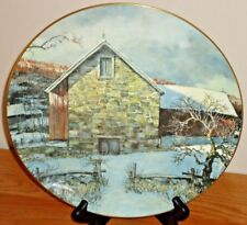Pennsylvania Pastoral Eric Sloan Plate 1977 by Royal Daulton Winter Barn