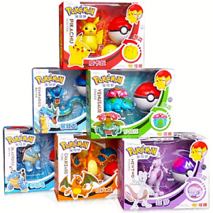 Pokemon Pikachu+more Poké Ball Deformation Dolls Action Figure Gift Kid Toy New!