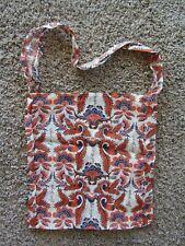 Free People Sheer Gauze Floral Orange/Cream Tote Bag Size Large 13 x 15
