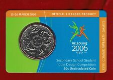 2006 Melbourne XVIII Commonwealth Games 50c Uncirculated Coin - Student Design