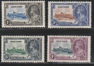 Gold Coast   1935   Sc # 108-11   Silver Jubilee   MLH   OG   (4019-3)