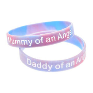 Mummy Daddy Sister Nana of an Angel Silicone Family Wristbands Child Baby Loss