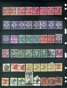 48 Piece US Precancel Collection TEN99