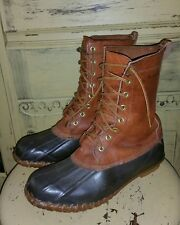 VINTAGE RARE LEWIS & CLARK DUCK HUNTING BOOTS MENS 7 BROWN SHEARLING MUKLUK USA