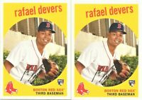 2018 Topps Archives #40 Rafael Devers Boston Red Sox RC Rookie Card Lot x 2