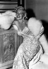 Sexy Photo 8.25x11.75 Marilyn Monroe Portrail White Glamorous Dress #072