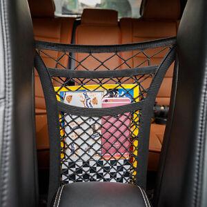 MICTUNING Car Seat Storage Mesh 2-Layer Organizer Net Dog Kid Disturb Stopper