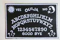 Ouija Board Patch Iron On Large Black White 50s Goth Horror Satan Wicca Devil