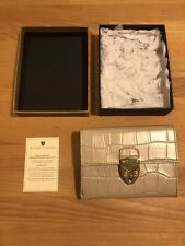 Aspinal Of London Mayfair Small Soft Taupe Croc Wallet Pu! New! Only £119,90!