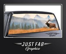 Elk Scene Wildlife Mountains Rear Window Perf Graphic Decal Tint Truck Suv