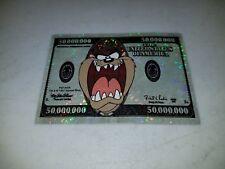 "Looney Tunes Tasmanian Devil $50,000,000 Bill Sticker 1997 Measures 2.5"" x 3.5"""