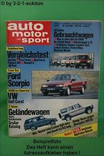AMS Auto Motor Sport 9/85 * DB 280 GE Range Rover Toyota MR2 DB 190E 2,3