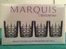 WATERFORD MARQUIS BRADY DOUBLE OLD FASHIONED LUXURY BAR GLASSES SET OF 4 NIB