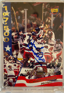 1995 Signature Rookies Herb Brooks PROMO ON CARD Auto autograph MIRACLE ON ICE