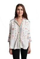 Pete and Greta by Johnny Was 100% Cotton Ela Gauze Embroidered Blouse P10418 New