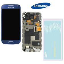Samsung Galaxy S4 Mini i9195 LCD Display Blau + Rahmen  ⫸ Original Ware  ⫷