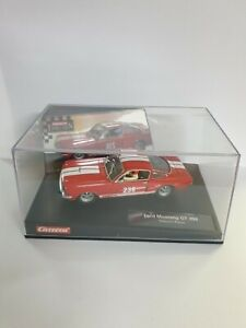 1/32 CARRERA EVOLUTION FORD MUSTANG GT350 HISTORIC RACER SLOT CAR RED No 236 NEW