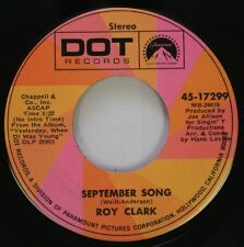 Country 45 Roy Clark - September Song / For The Life Of Me On Dot Records
