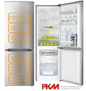 PKM Kühl-Gefrierkombination 175L Silber Kühlschrank 143 cm  KG218.4A++