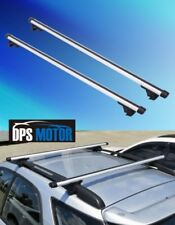 2x Aluminum Universal Roof Rack Top Rail Cross Bar X Bars Luggage Carrier 53""