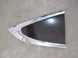 Tesla Model X Right Quarter Panel Glass Rear Window Tinted OEM w Chrome Molding