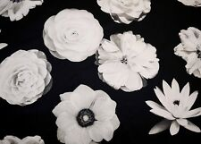 Black White Foto Fleur Onyx Waverly Fabric