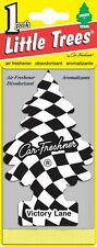 2 little tree Checkered Flag scent Air Freshener for Cars & Home - Victory Lane