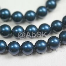 100 pcs Swarovski Element 5810 3mm Round Ball Crystal Pearl Beads - Petrol