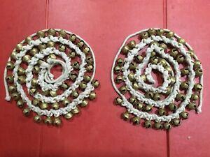 AUTHENTIC Musical Ghungroo Classical Dance Kathak Ghungroo Bells Tied Rope Pair