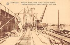 CPA BELGIQUE ZEEBRUGGE SANDFORT BRIDGE
