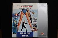 BOND 007 Rien que pour vos Yeux VF PAL LASERDISC WB Roger Moore Ian Fleming